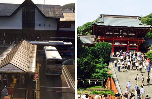 鎌倉駅八幡