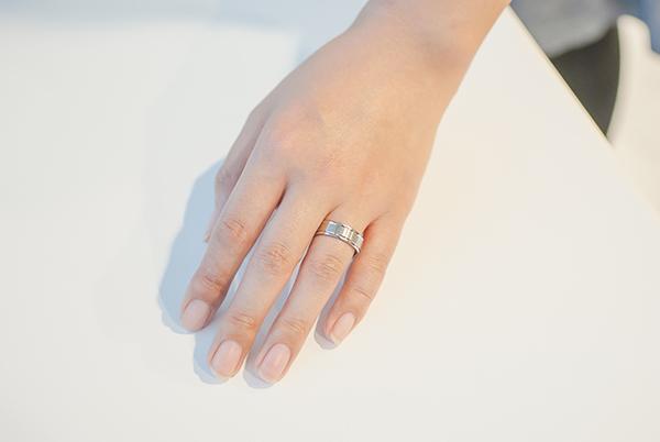 幅広の指輪